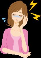 頭痛に困る女性